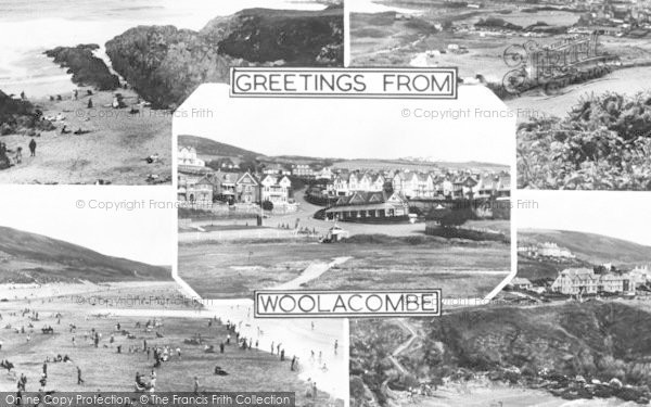 Photo of Woolacombe, Composite c.1955