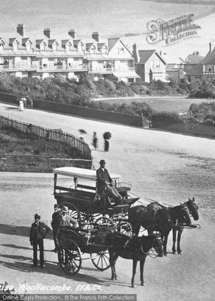 Photo of Woolacombe, Horse And Carriage 1899