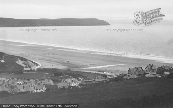 Photo of Woolacombe, Sands From North Hill c.1950
