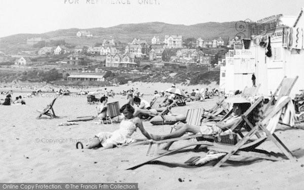 Photo of Woolacombe, The Beach c.1955