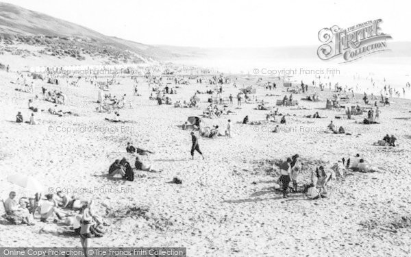 Photo of Woolacombe, The Beach c.1960