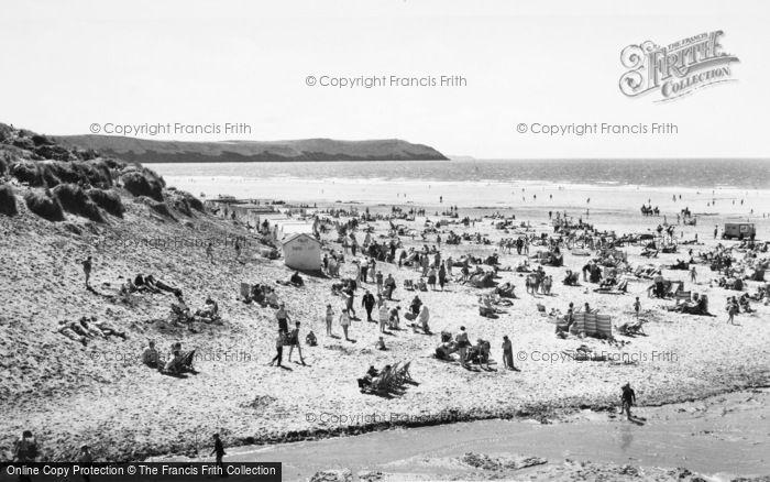 Photo of Woolacombe, The Beach c.1965