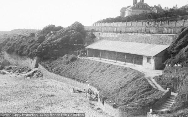 Photo of Woolacombe, The Beach Shelter c.1950