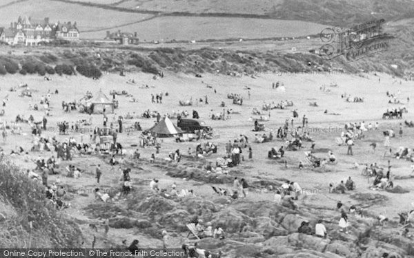 Photo of Woolacombe, The Sands c.1955