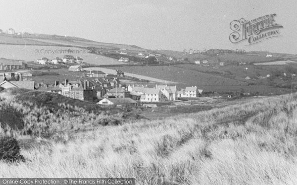 Photo of Woolacombe, View East From Sandhills c.1950