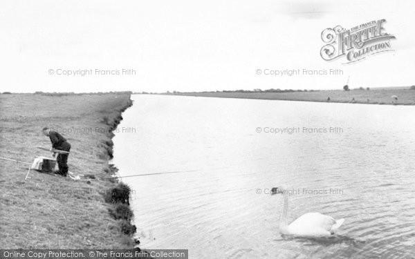 Photo of Woolavington, Bridge, Huntspill River c.1960
