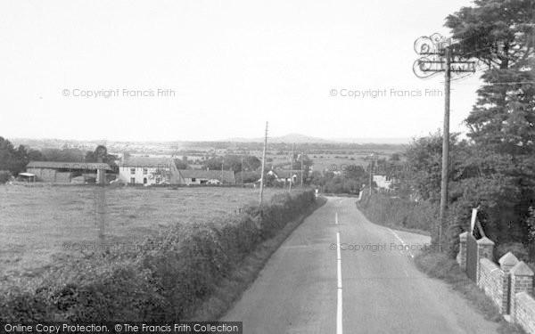 Photo of Woolavington, Crossways c.1955