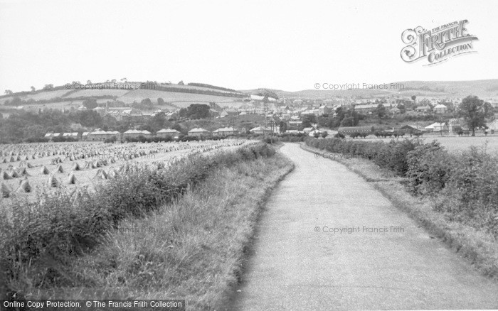 Photo of Wooler, From Chatton Road c.1955