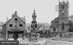The Cross, St Mary's Church And War Memorial c.1955, Wooler