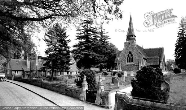 Photo of Woolhampton, St Peter's Church And School c.1960
