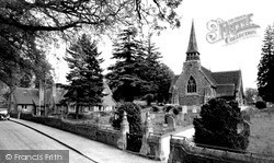 Woolhampton, St Peter's Church And School c.1960