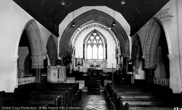 Photo of Woolhampton, St Peter's Church Interior c.1965