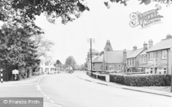 Woolhampton, The Approach To The Village From The West c.1960