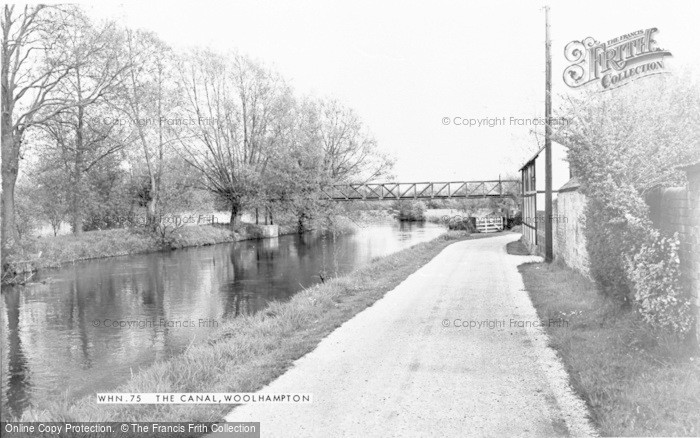 Photo of Woolhampton, The Canal c.1965