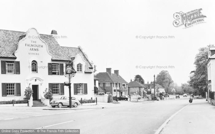 Photo of Woolhampton, The Falmouth Arms And Village c.1960