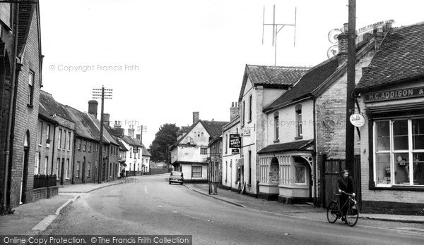 Photo of Woolpit, Main Street c.1955