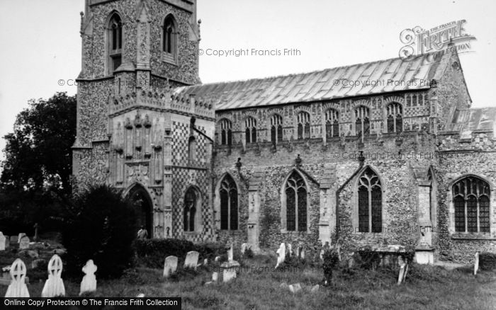 Photo of Woolpit, St Mary's Church 1950