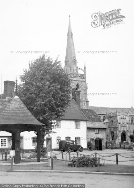 Photo of Woolpit, St Mary's Church c.1955