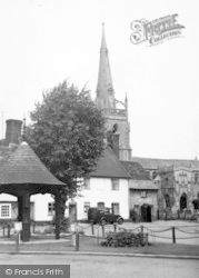 Woolpit, St Mary's Church c.1955