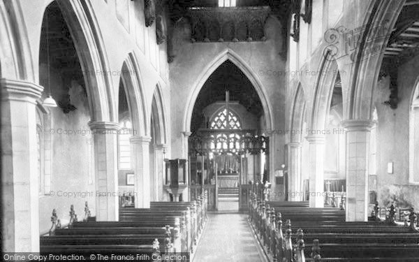 Photo of Woolpit, St Mary's Church Interior c.1955