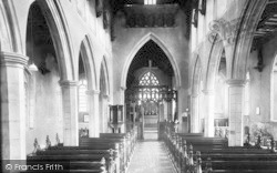Woolpit, St Mary's Church Interior c.1955