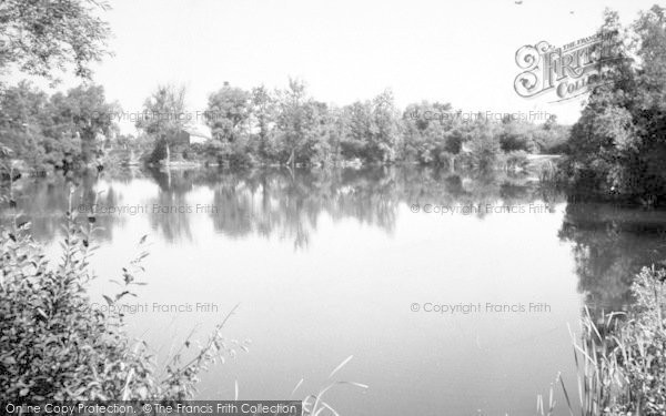 Photo of Woolpit, The Blue Waters Fishing Lake c.1960