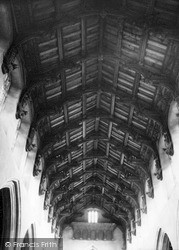 Woolpit, The Carved Roof Of St Mary's Church c.1955