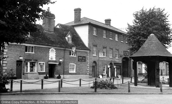 Photo of Woolpit, The Swan Inn c.1955