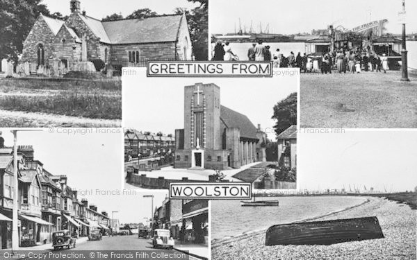 Photo of Woolston, Composite c.1955