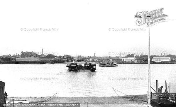 Photo of Woolston, The Floating Bridge c.1955