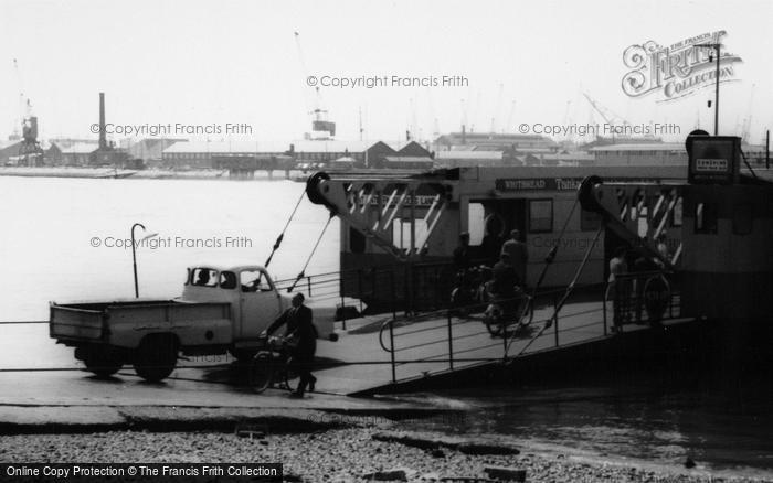 Photo of Woolston, The Floating Bridge Passengers c.1960