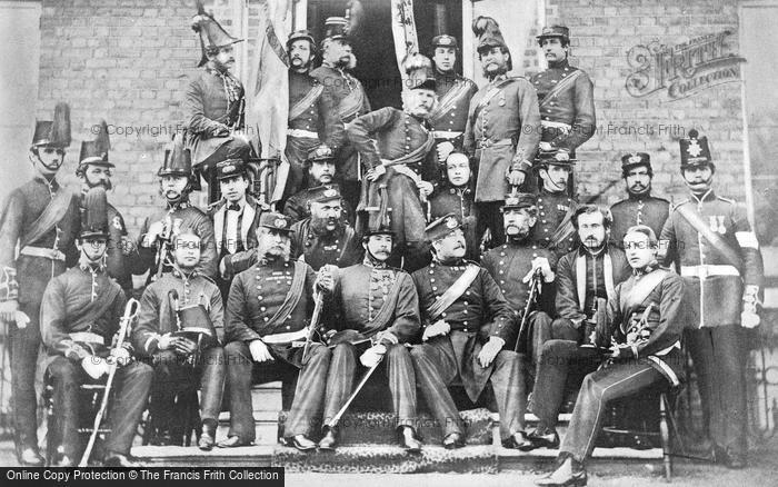 Photo of Woolwich, Officers Of The Woolwich Division Royal Marines Light Infantry 1860