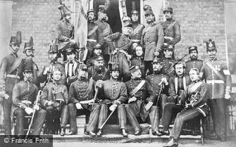 Woolwich, Officers of the Woolwich Division Royal Marines Light Infantry 1860