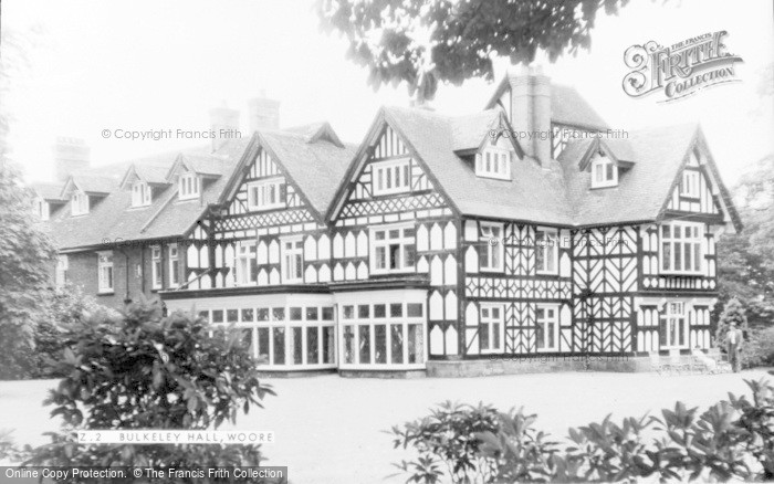 Photo of Woore, Bulkeley Hall c.1960