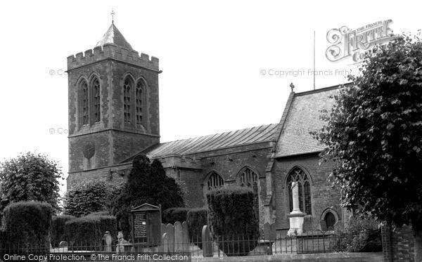Wootton Bassett, the Parish Church c1955