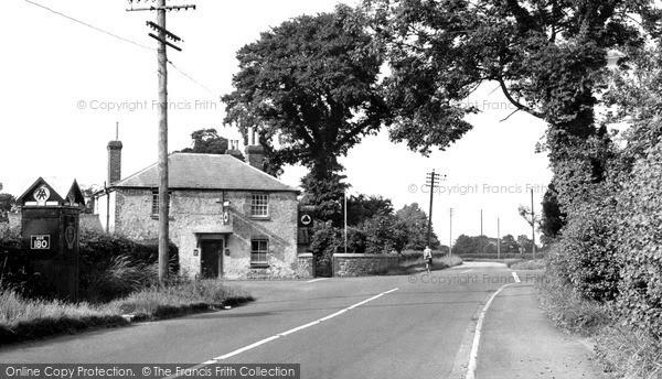 Wootton Bassett, Cross Roads, Coped Hall c1955