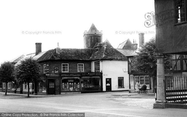 Wootton Bassett, Town Hall and Church c1955