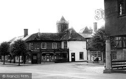 Wootton Bassett, Town Hall And All Saints Church c.1955