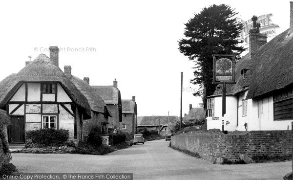 Photo of Wootton Rivers, The Village c.1950