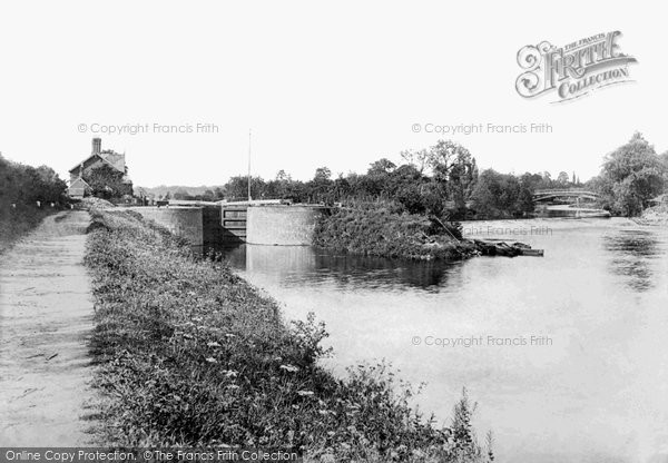 Photo of Worcester, Bevere Lock And Weir 1891