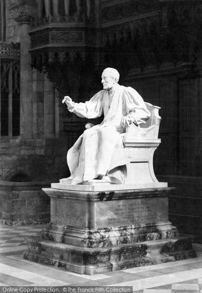 Photo of Worcester, Bishop Philpot's Statue 1896