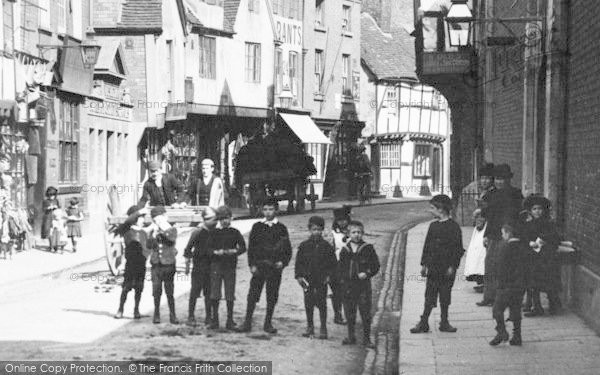 Photo of Worcester, Boys In Friar Street 1891