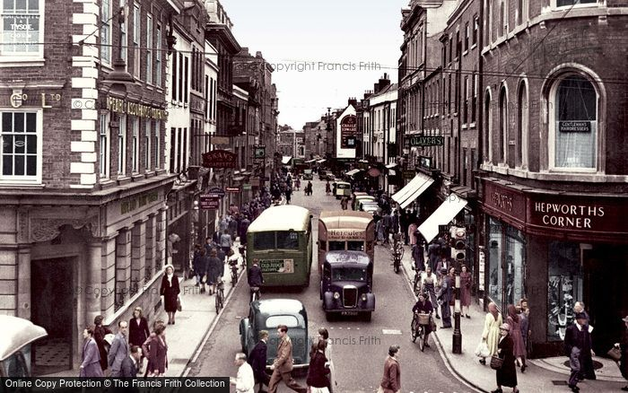 Photo of Worcester, Broad Street c.1950