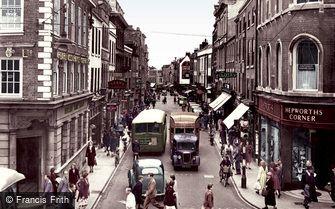 Worcester, Broad Street c1950