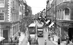 Worcester, Broad Street c.1956