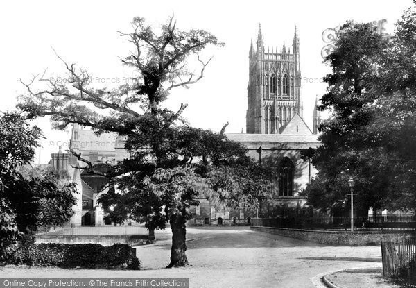 Photo of Worcester, Cathedral And King's School 1891