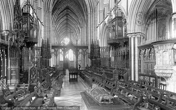 Photo of Worcester, Cathedral, Choir West 1899
