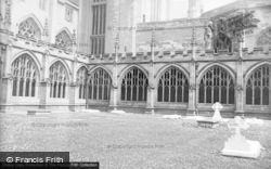 Worcester, Cathedral Cloisters c.1890