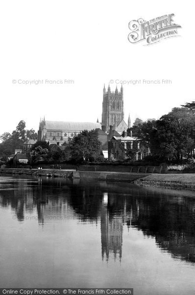 Photo of Worcester, Cathedral From The River Severn 1891