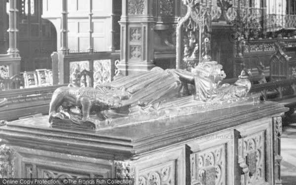 Photo of Worcester, Cathedral, King John's Tomb Effigy 1925
